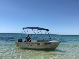 3.8meter 6hp dinghy (no skippers ticket required)
